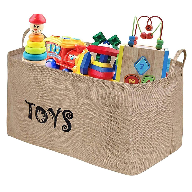 Update Tougo XXL 22  Jute Toy Chest Baskets Storage Bins Organizer - Perfect for Organizing  sc 1 st  Amazon UK & Toy Storage Baskets: Amazon.co.uk