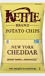 product image for Kettle Brand Potato Chips, New York Cheddar, 8.5 Ounce Bags (Pack of 12)