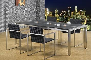 Esszimmertisch Edelstahl Mit Granitplatte Lxb 200x100 Cm Marke