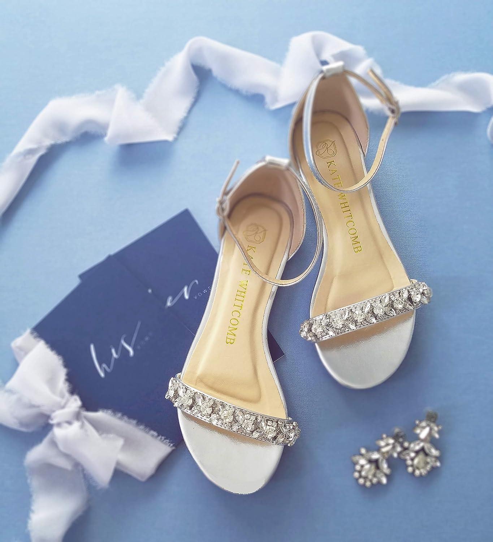Amazon Com Flat Wedding Shoes Style Sisley In Silver Handmade