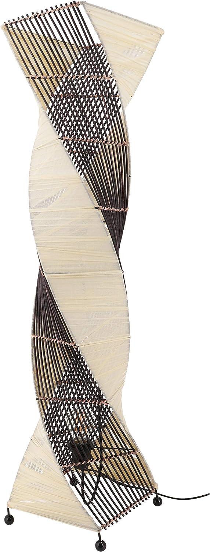 Guru-Shop Stehleuchte Benoa Small - in Bali Handgemacht aus Naturmaterial, 60x18x18 cm, Dekolampe Stimmungsleuchte Modell Twister