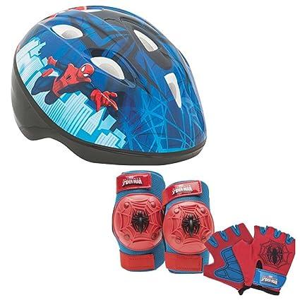 af23638ec43 Image Unavailable. Image not available for. Color: Marvel Spiderman Kids Toddler  Skate / Bike Helmet Pads & Gloves - 7 Piece Set