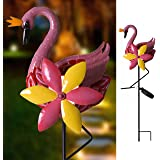 "Hannah's Cottage 26.6"" Swan Decorative Garden Stake, Solar Lighted Pathway Lights Decorations for Garden, Patio, Backyard, Outdoor Paradise (Pink)"