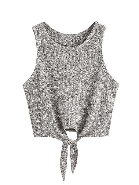 Amazon.com: SweatyRocks: Blusa corta para mujer, camiseta ...