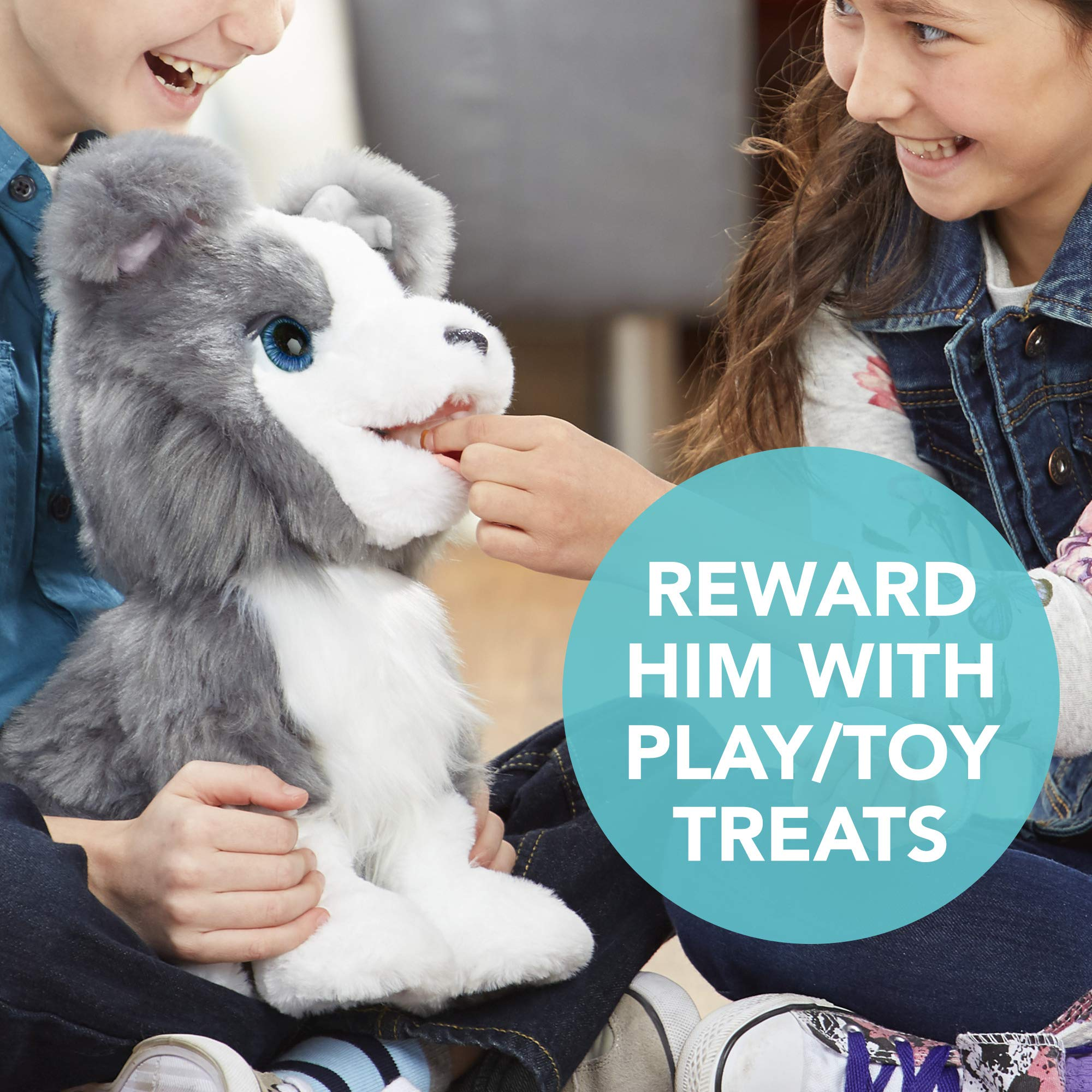 FurReal Friends Ricky, the Trick-Lovin' Interactive Plush Pet Toy, 100+ Sound-and-Motion Combinations, Ages 4 and Up by FurReal (Image #4)