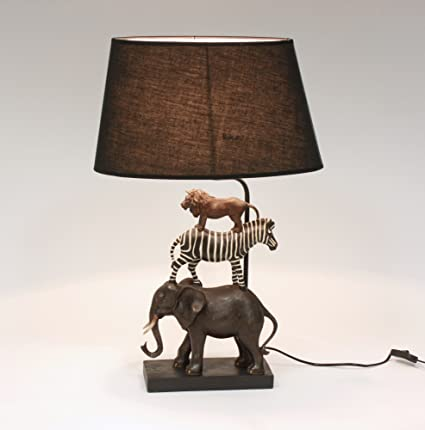 GENIAL Lámpara de MESA SAFARI 70cm Elefante cebra León ...