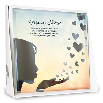 P2g Marco Silhouette Maman Chérie Poema Personalizado