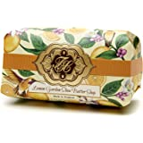 "Lemon Citrus, Luxury Large Oversized, Beautifully Scented, Shea Butter Soap Bar, Made in England, Triple Milled. Environmentally Friendly (Green). 8.0oz....SAVE by ordering ""3SPL07"""