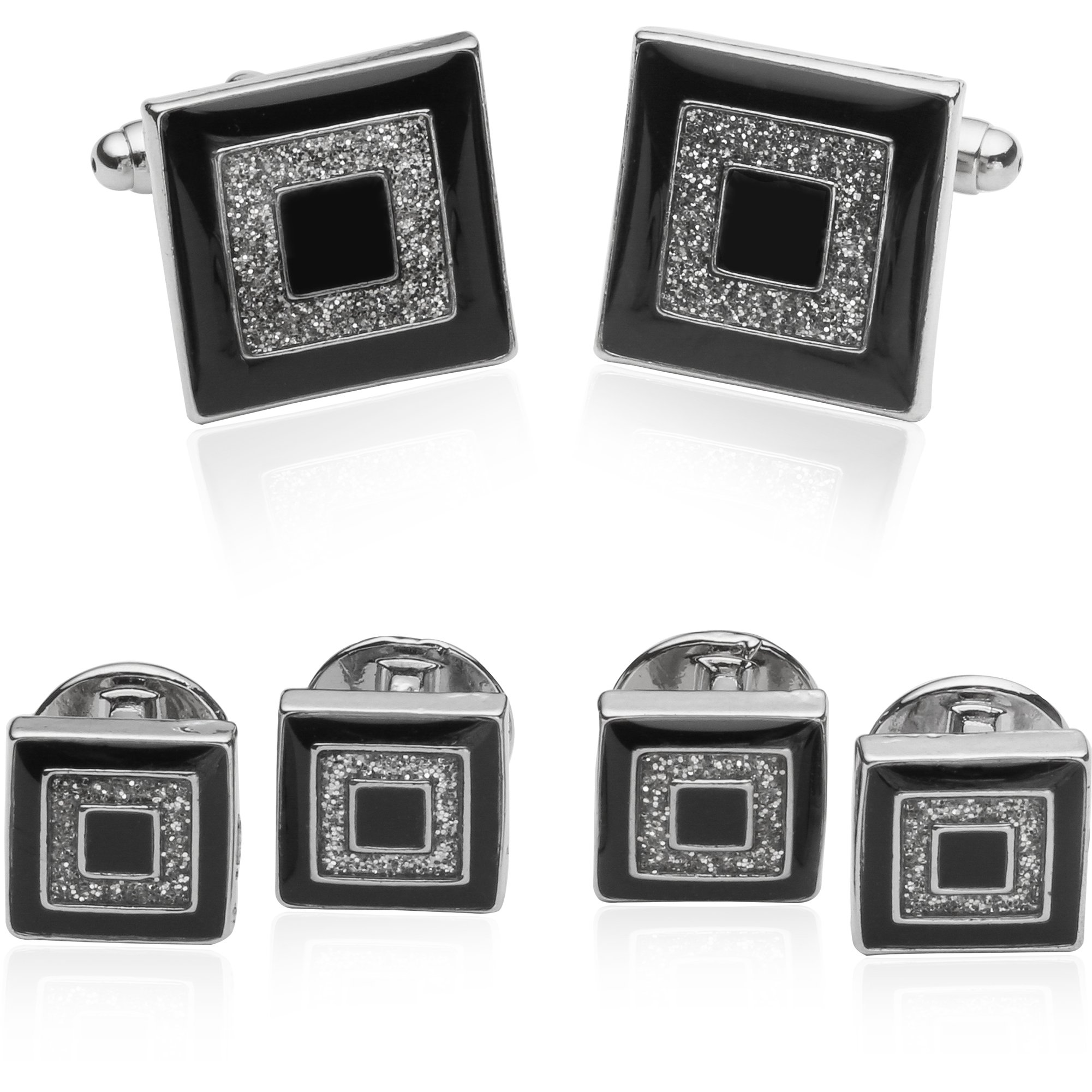 Cuff-Daddy Diamond Dust Formal Set with Presentation Box