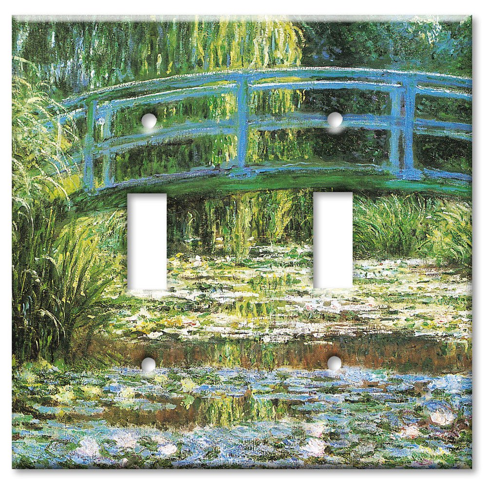 Art Plates - Monet: Japanese Footbridge Switch Plate - Double Toggle