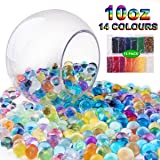 OPOLEMIN Kids Water Beads Sensory Toy (14PACK) 30000 Water Beads,14 Mix Colors, Kids (Not for Under 3 Years) Water Beads For Plant Growing Vase, Tactile Sensory Toys