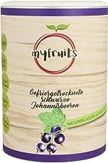 myfruits® schwarze Johannisbeeren - gefriergetrocknet - ohne Zusätze, zu 100% aus Johannisbeeren, gesunde Zutat für Müsli oder Porridge (1er Pack)