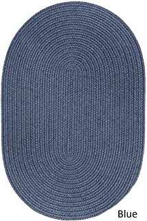 product image for Rhody Rug Woolux Wool Oval Braided Rug (3' x 5') Sailor Blue