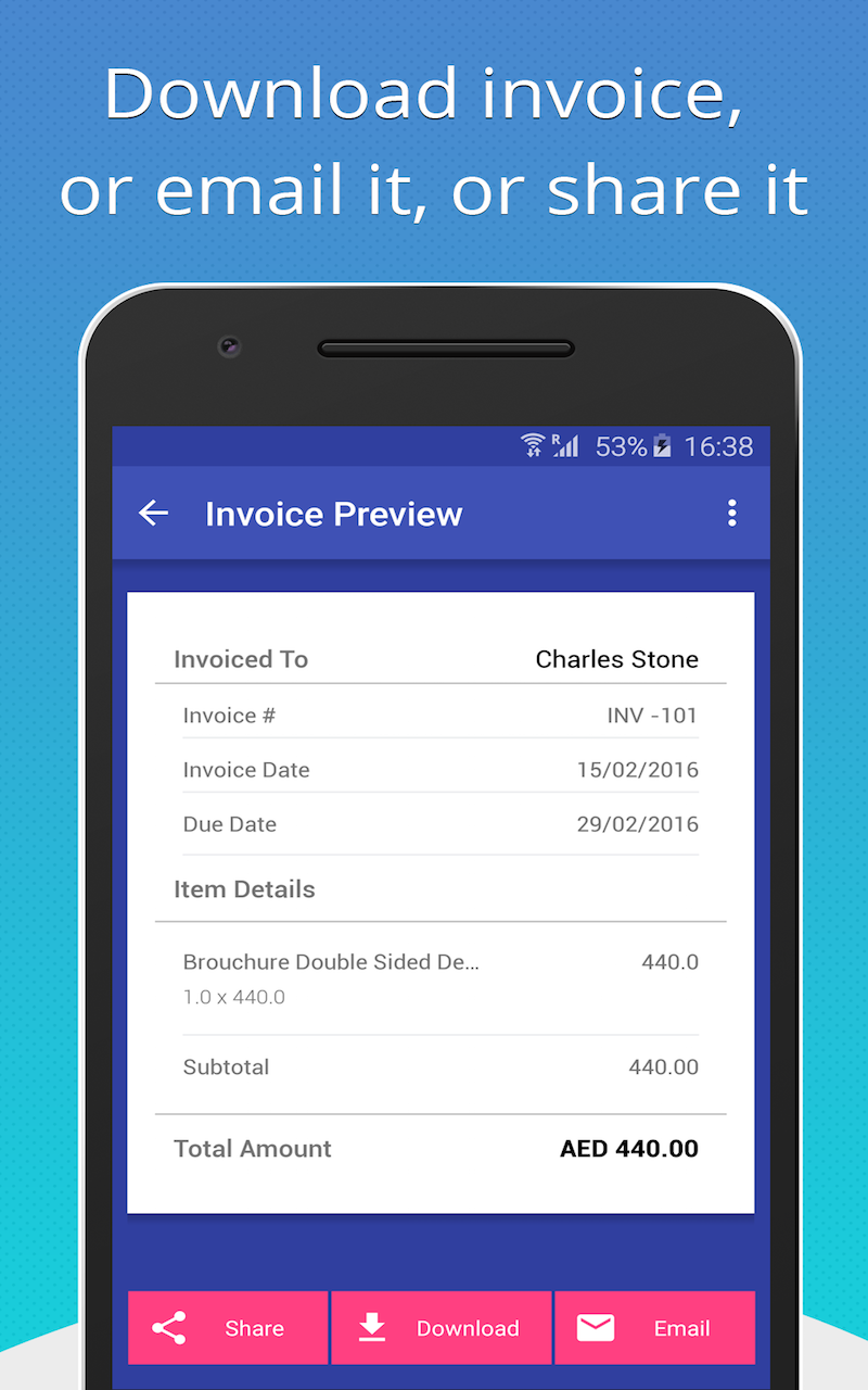 Amazoncom Free Invoice Generator Appstore For Android - Invoice making software free online fabric store coupon