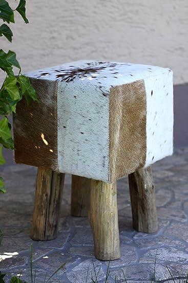 condecoro Design Sitzhocker Fell Holz Möbel Hocker Flint Urzeit ... | {Badhocker design holz 88}