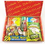 Sour Sweets and candy Box by Dolci Di Lechlade - Warheads vs Toxic Waste Sour American sweets