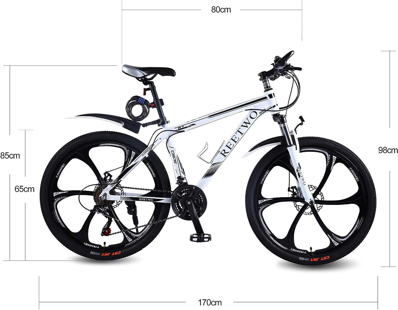 REETWO Bicicleta Hombre Montaña, Bicicleta Montaña 26 Pulgadas ...