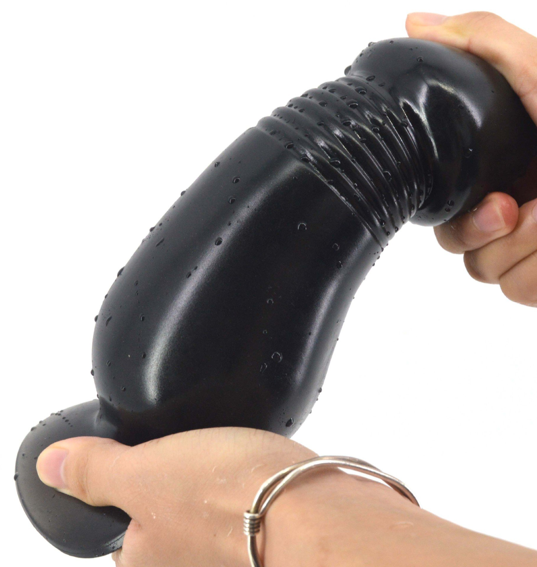LZYAA Big Size Fake Dildo Penis Suction Cup (Black) by LZYAA