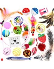Legendog Cat Toys, 22PCS Kitten Toys Cat Fish Toys Cat Toys for Indoor Cats Cat Feathers Wand Interactive Cat Toys for Kitty and Cats
