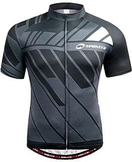 sponeed Men s Cycling Jerseys Tops Biking Shirts Short Sleeve Bike Clothing  Full Zipper Bicycle Jacket Pockets 2d2dbf3e4