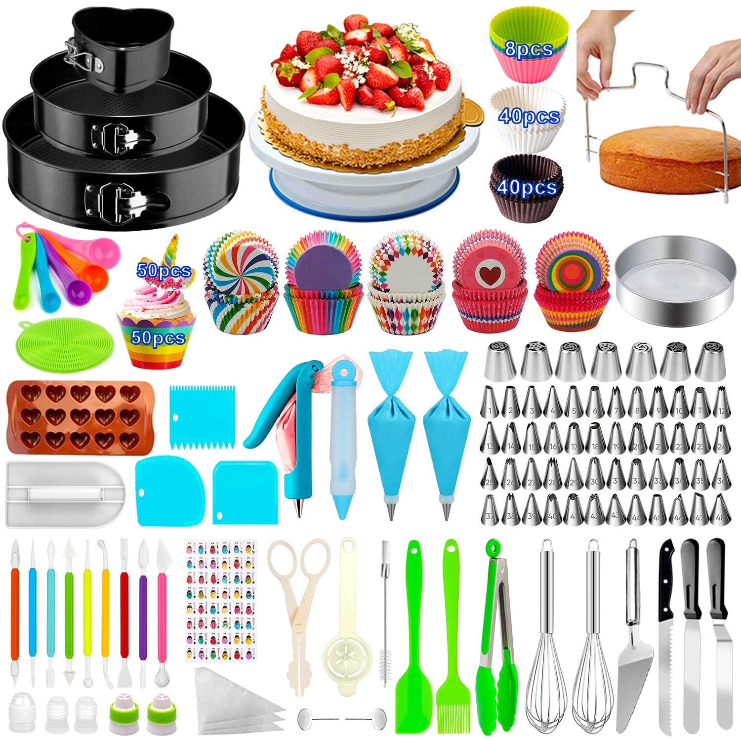Cake Decorating Supplies 4 years warranty 493 PCS Packs Kit 3 Manufacturer direct delivery Spr