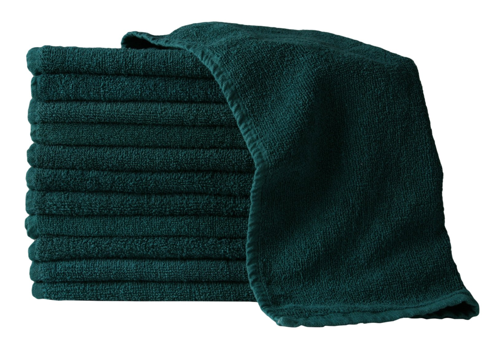 American Terry Mills 100% Cotton Salon Towels Gym Towels Hand Towel, 100% Ringspun-Cotton, Maximum Softness, Absorbency & Durability, Green, 144 Piece, 12 Dozen in a Pack