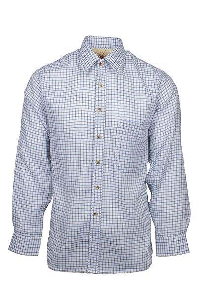 Fenside Country Clothing - Camisa Casual - para Hombre Azul Azul M- 102 cm e3a538c174e