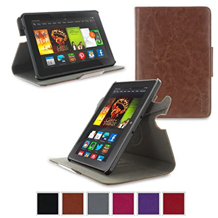 Amazon Kindle Fire Hdx 7 Case Roocase Orb System Folio 360 Dual View Leather Case Smart Cover Brown Buy Amazon Kindle Fire Hdx 7 Case Roocase Orb System Folio