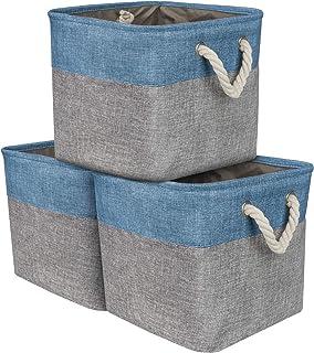 Sorbus Storage Large Basket Set [3 Pack] Big Rectangular Fabric Collapsible  Organizer Bin