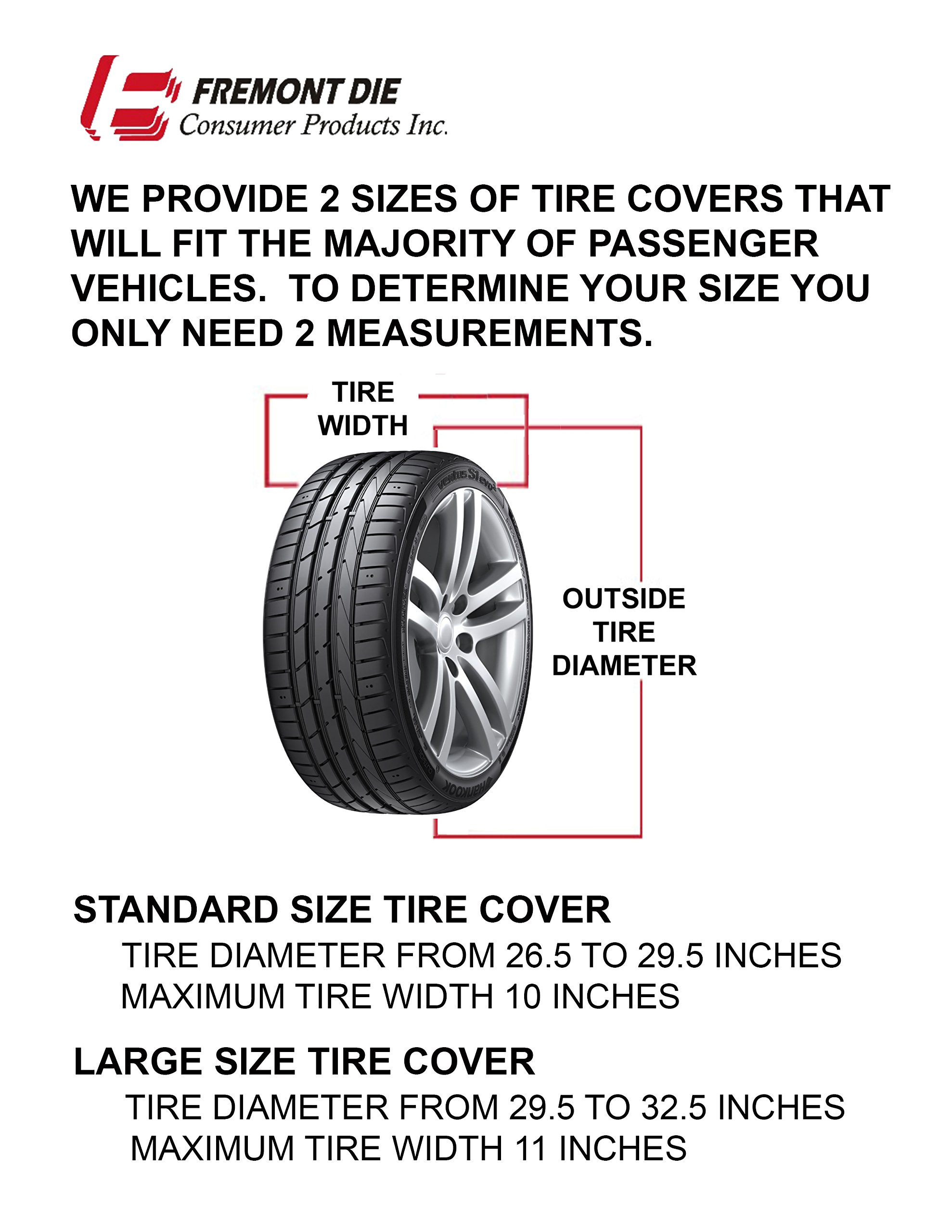 Fremont Die NCAA Oregon Ducks Tire Cover, Large Size (30-32'' Diameter)