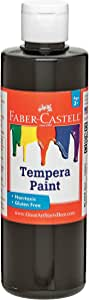 Faber-Castell Non-Toxic Tempera Paint for Kids, 8 oz, Black