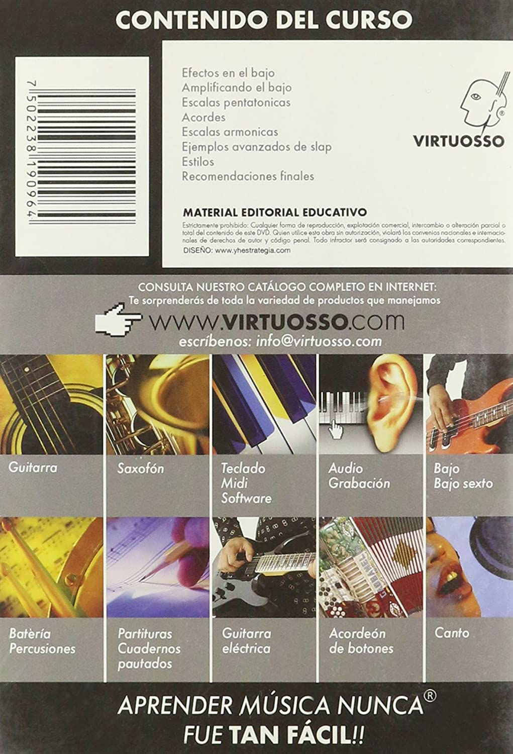 virtuosso Electric Bass Method Vol. 3 (curso de bajo eléctrico Vol. 3) español sólo: Amazon.es: Instrumentos musicales