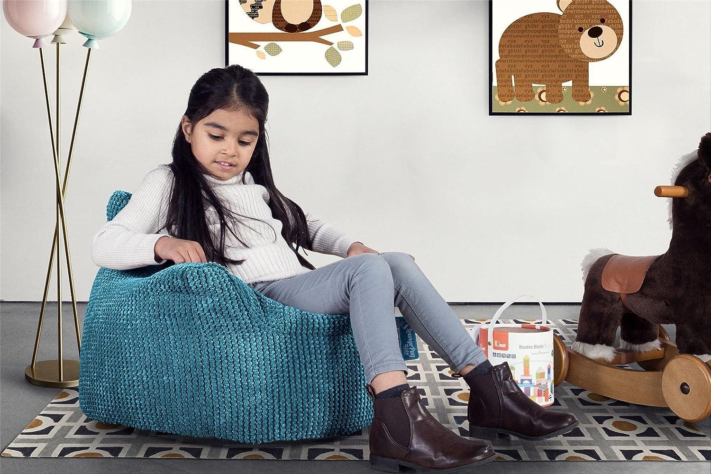 Pouf Enfant Fauteuil Enfant Lounge Pug Pompon Mer Égéé