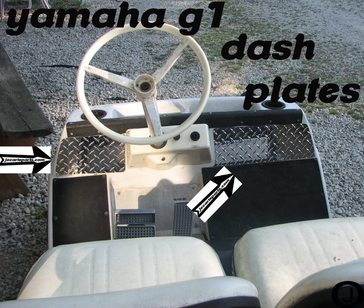 Yamaha G1 Golf Cart Diamond Plate Dash Plates