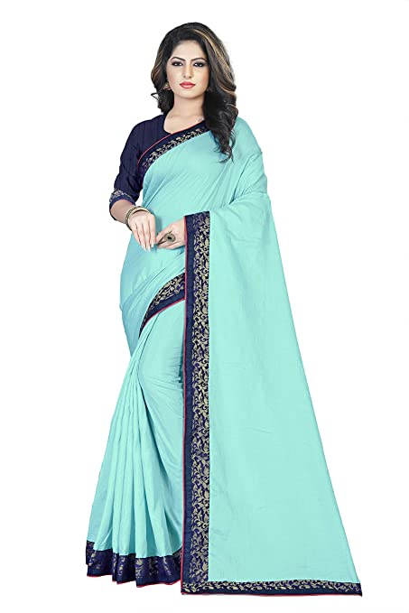 Nilesh Women's Silk Saree With Blouse Pices(Nilesh CT104 Rama)