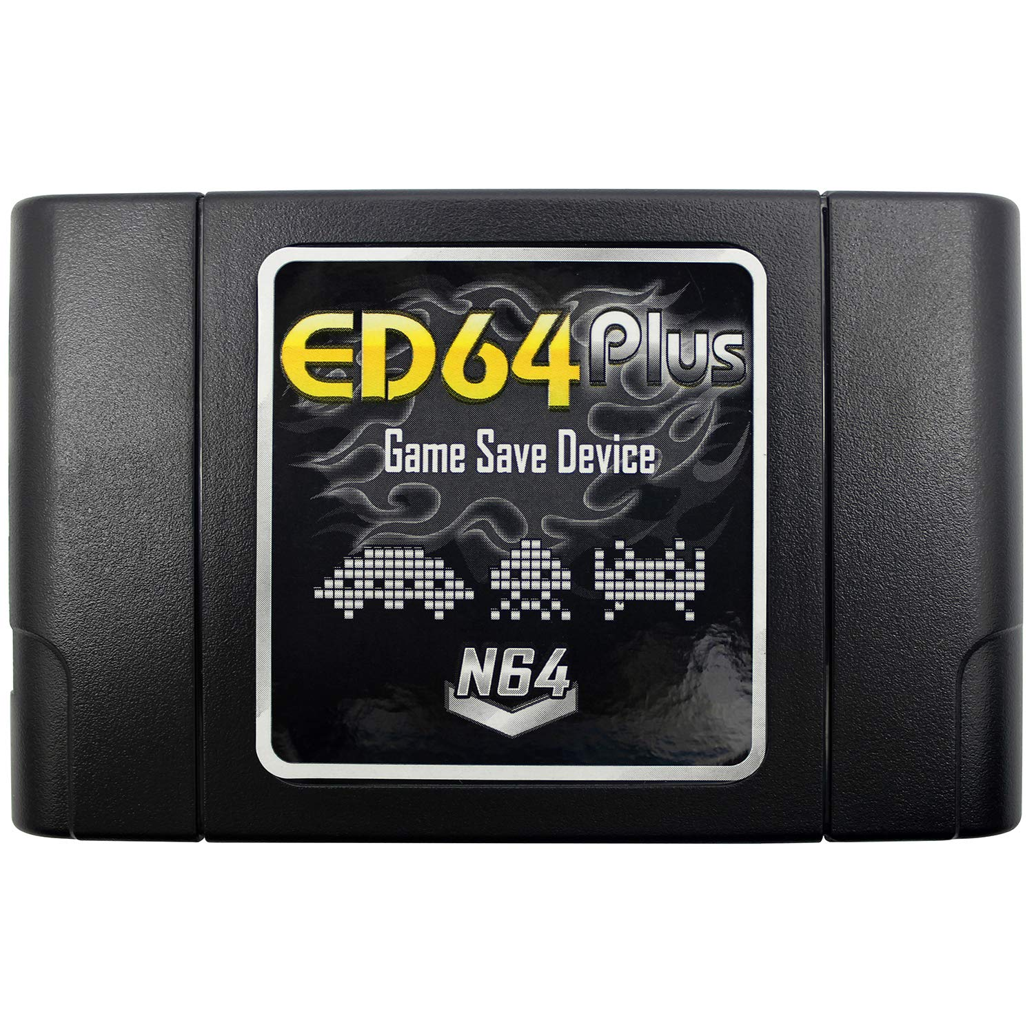 OSTENT PAL/NTSC ED64 Plus Game Save Device Cartridge 8GB SD Card Adapter Compatible for Nintendo N64 Games