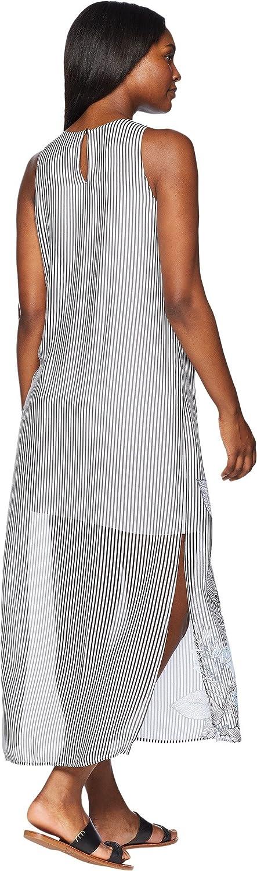 2245b9f7fdf0 Vince Camuto Womens Sleeveless Island Floral Chiffon Overlay Maxi Dress at  Amazon Women's Clothing store: