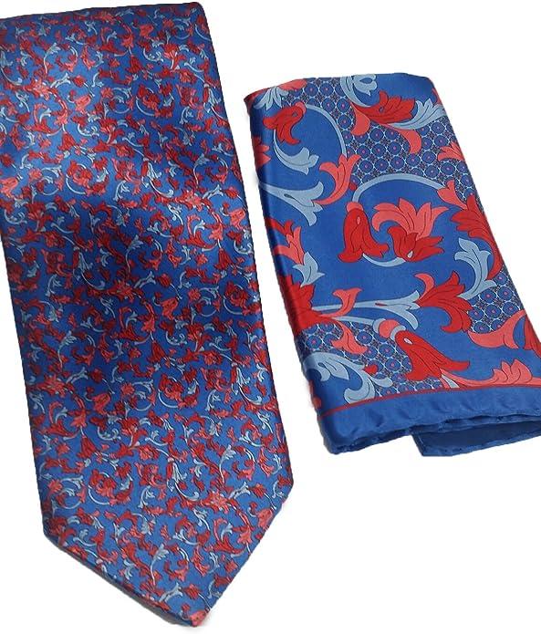 Italo Ferretti Multi Color Artistic Paisley Silk Tie