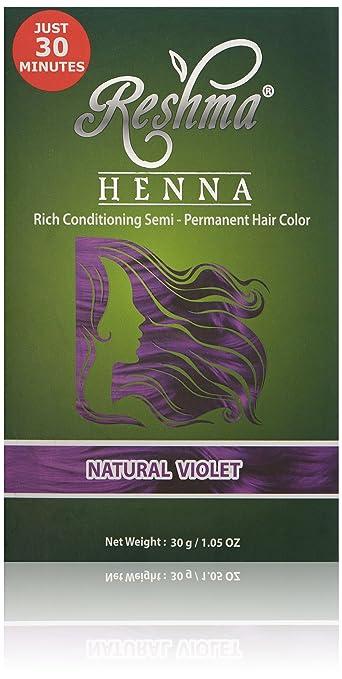 Amazon.com : Reshma Beauty Natural Violet 30 Minute Henna Hair Color ...