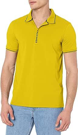 A|X Armani Exchange Men's Logo Zip Jersey Polo