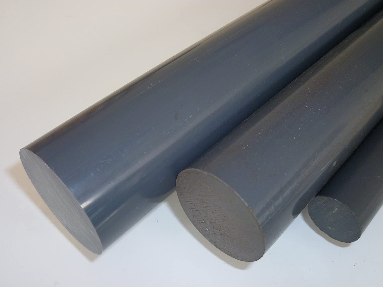 1000 mm +//- 5 mm 1 mtr. B/&T Metall PVC schwarz Rundstab /Ø 70 mm L/änge ca Au/ßendurchmesser mit Plustoleranz