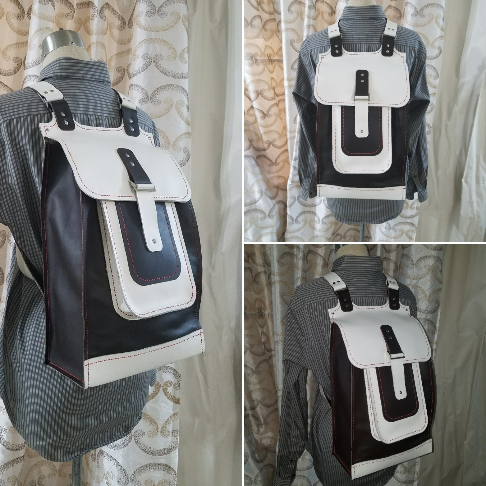 JEM Hand Sewn Leather Travel Backpack
