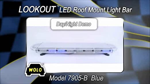 Amazon wolo 7905 b lookout gen 3 technology low profile led amazon wolo 7905 b lookout gen 3 technology low profile led emergency warning light bar 12 volt blue leds clear lens roof mount automotive aloadofball Gallery