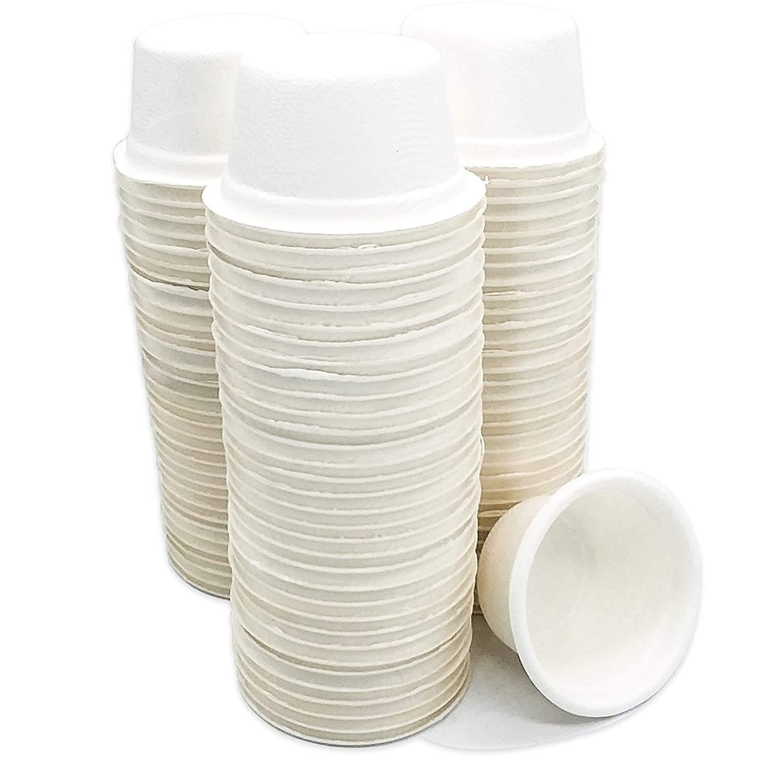 2 oz Compostable Bagasse Souffle Cups, 200 Pack
