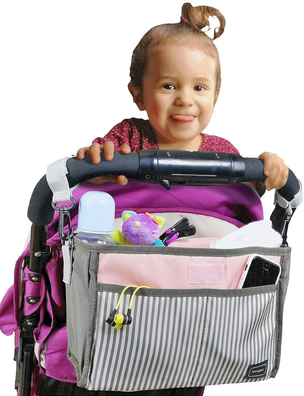 Universal Baby Stroller Organizer Bottle Cloth Diapers Holder Hanging Storage Bag (Grey) my FL