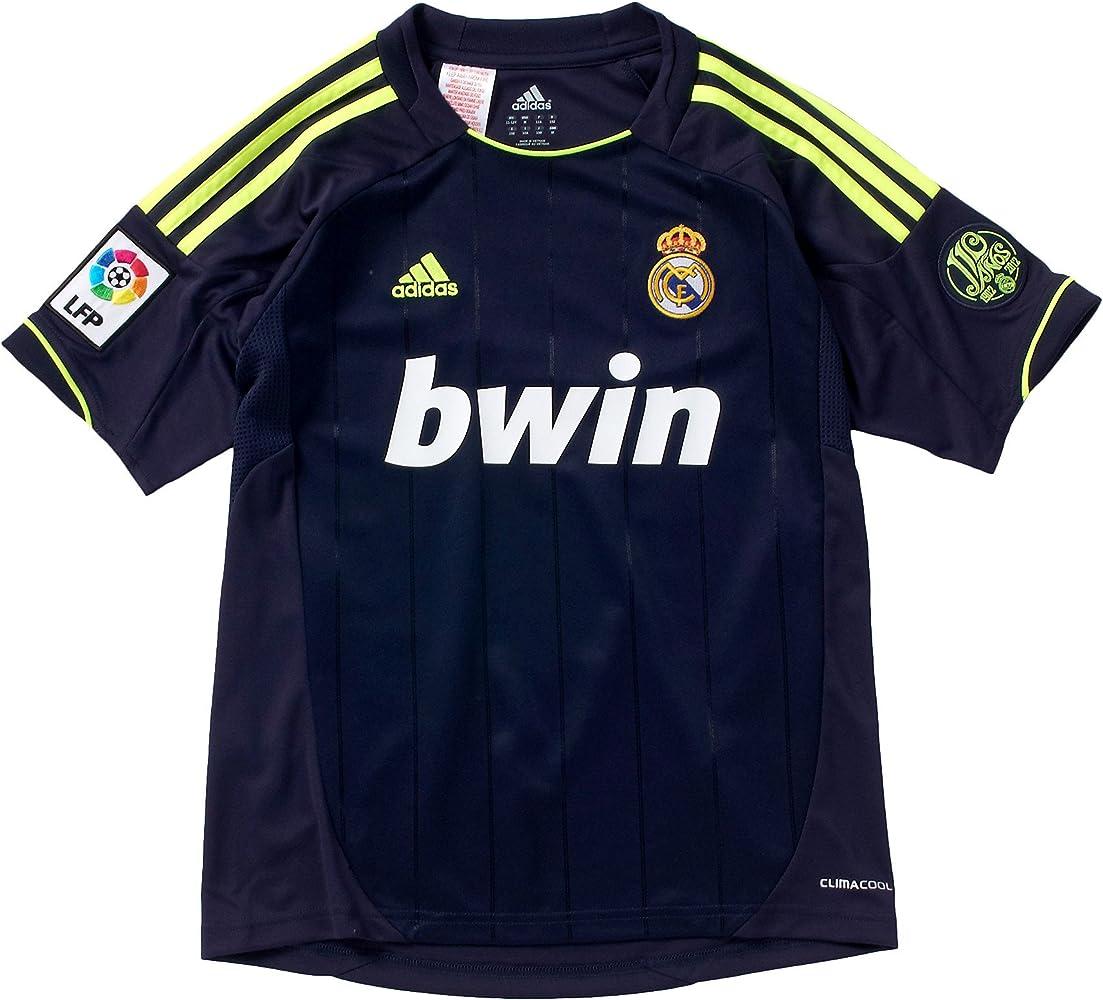 adidas Camiseta Real Madrid Away Infantil Azul nobleink/ele Talla:164: Amazon.es: Ropa y accesorios