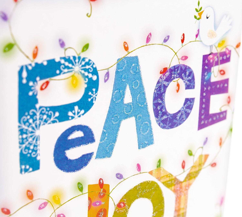 Amazon Com Hallmark Unicef Christmas Boxed Cards Peace Joy Love