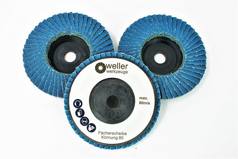 80 pour Bosch GWS 10,8 76 Lot de 3 disques /à lamelles grain disques abrasifs