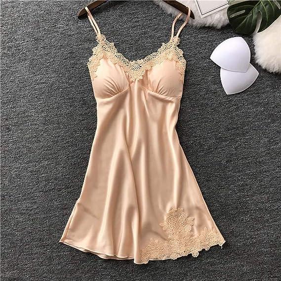 Womens Lingerie Youngh Silk Lace Robe Dress Babydoll Nightdress Sleepwear Kimono Set at Amazon Womens Clothing store: