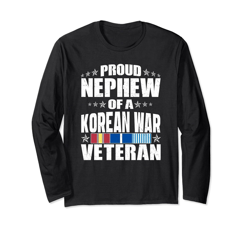 Proud Nephew Of A Korean War Veteran Long Sleeve Shirt Men Anz